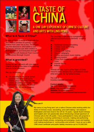 A taste of China flyer